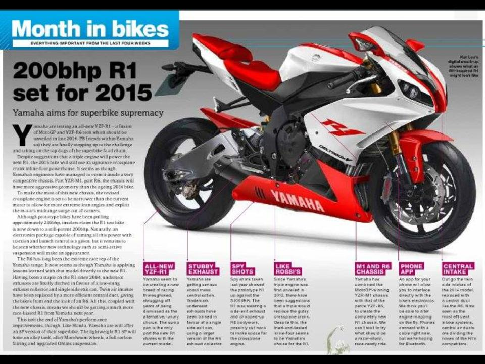 Thread: Wow, 200bhp 2015 Yamaha R1 looks tough and has the ponies to