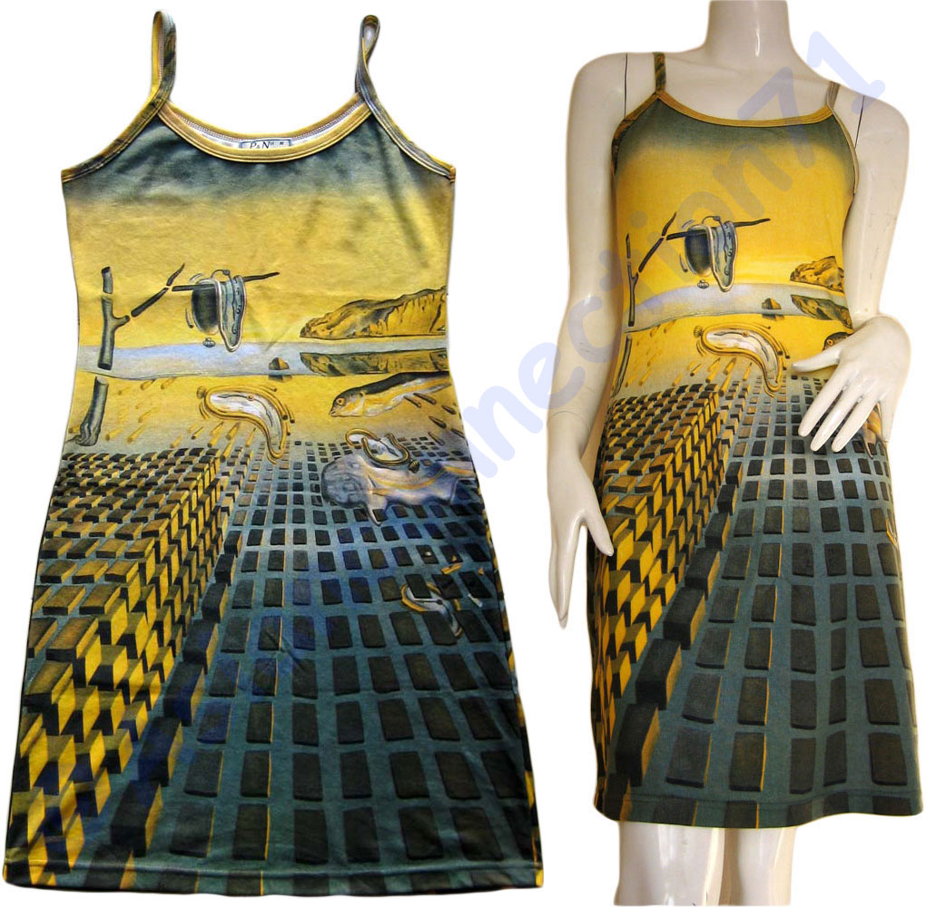 Salvador Dali DISINTEGRATION OF MEMORY Fine Art Print Dress Misses S M L XL
